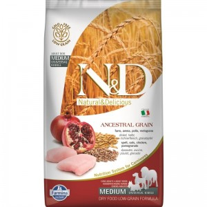 N&D Low Grain Chicken and Pomegranate Adult Medium, 2.5 kg