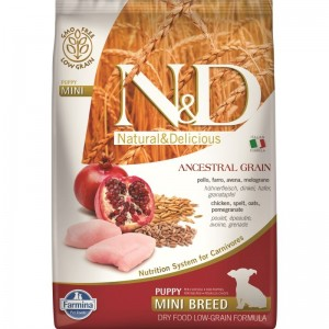 N&D Low Grain Chicken and Pomegranate Puppy Mini, 7 kg