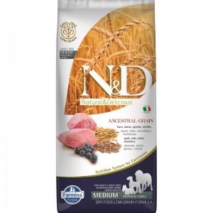 N&D Low Grain Dog Lamb and Blueberry Adult Medium, 12 kg