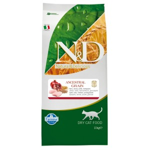 N&D Cat Adult LOW GRAIN Pui si Rodie 10 kg