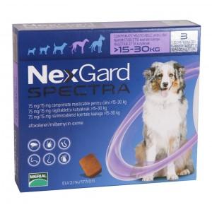 Nexgard Spectra L (15 - 30 kg), 3 comprimate