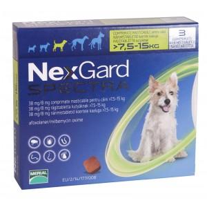 Nexgard Spectra M (7.5 - 15 kg), 3 comprimate