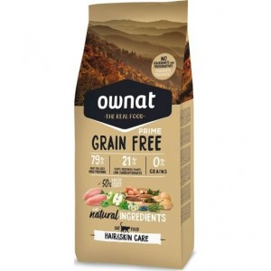 Ownat Cat Grain Free Prime Hair & Skin, 3 Kg