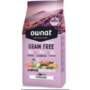 Ownat Grain Free Prime Sterilized Cat, 3 Kg