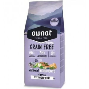 Ownat Cat Grain Free Prime Sterilized Fish, 3 Kg