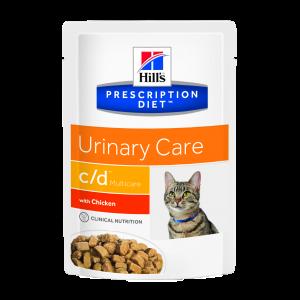 Hill's PD c/d Urinary Care hrana pentru pisici cu pui 85 g (plic)