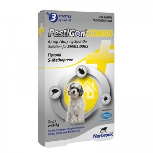 PestiGon Combo Dog S (2 - 10 kg), 3 pipete