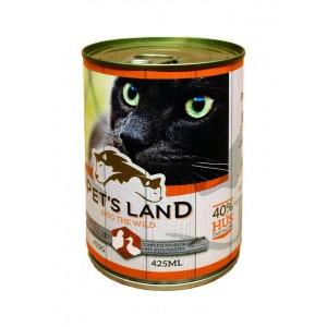 Pet's Land Cat, carne de pasare, 415 g