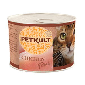 Petkult Cat Adult cu pui conserva, 185 g