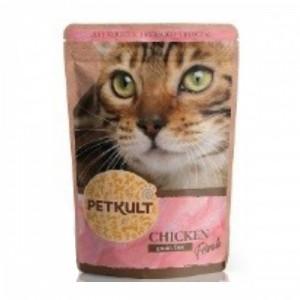 Hrana umeda pisici, Petkult, Pui, 100 g