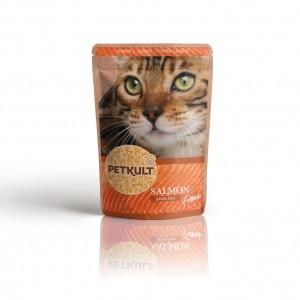 Hrana umeda pisici, Petkult, Somon, 100 g
