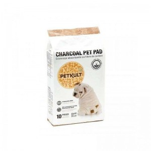 Petkult Pet Pad Charcoal 60 x 60 cm, 10 buc