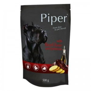 Piper Adult, ficat de vita si cartofi, plic, 500 g