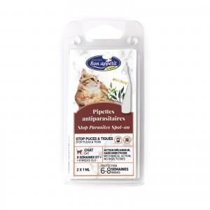 Pipeta antiparazitara pisici, Bon Appetit,  2 x 1 ml