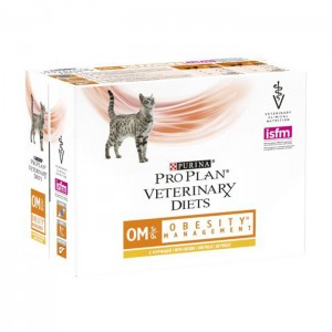 Purina Veterinary Diets Feline OM, Obesity Management, 10 x 85 g
