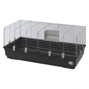 Cusca Rabbit 120 EL Negru . Argintiu, 118 x 58 x 51 cm