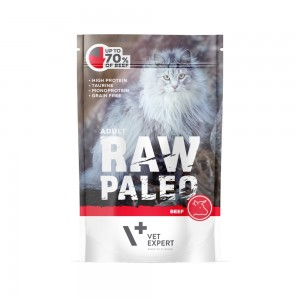 Hrana umeda, RAW PALEO CAT, adult, carne de vita, 100 g