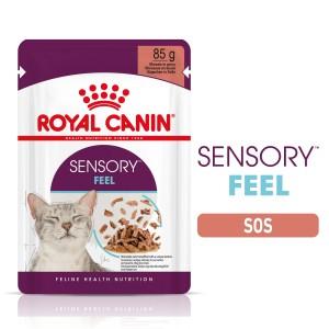 Sensory Feel, hrana umeda pisica (in sos), 12x85 g - plic
