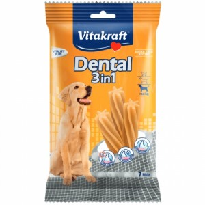 Recompensa pentru caini, Vitakraft Dental Snack 3in1 Medium, 180 g