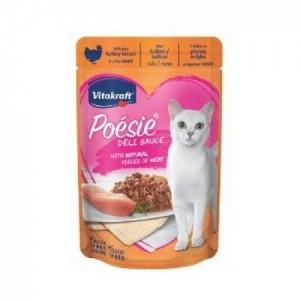 Hrana umeda pisici, Vitakraft Plic Poesie, Piept Curcan in Sos, 85 g