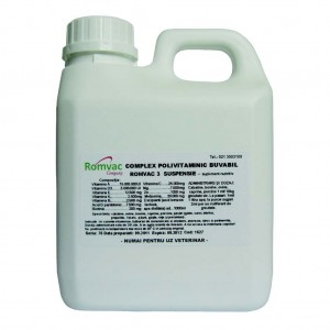Complex Polivitaminic buvabil Romvac-3 50 ml