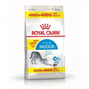 Royal Canin Feline Indoor 27, 400 g + 400 g CADOU