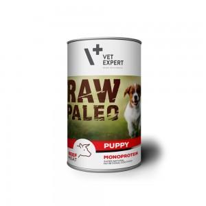 Hrana umeda, RAW PALEO Puppy, carne de vita, 400 g