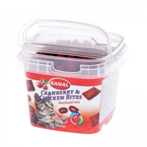Sanal Cat Cranberry and Chicken Bites, 75 g
