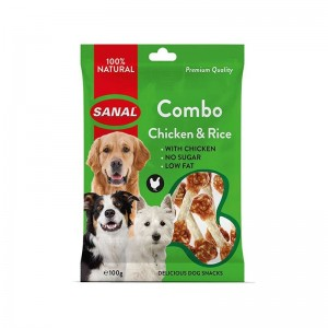 Sanal Dog Chicken and Rice, 100 g