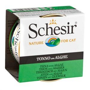 Schesir Cat, Conserva Ton si Alge, 85 g
