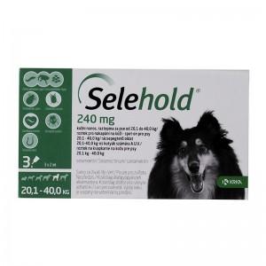 Selehold Dog 240 mg  ml (20.1 - 40 kg), 3 x 2 ml