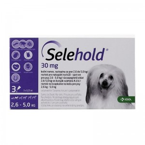 Selehold Dog 30 mg  ml, 3 x 0.25 ml