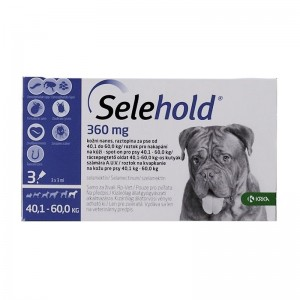 Selehold Dog 360 mg  ml (40.1 - 60 kg), 3 x 3 ml