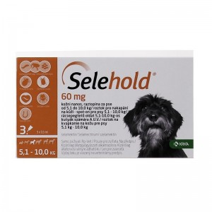 Selehold Dog 60 mg  ml (5.1 - 10 kg), 3 x 0.5 ml