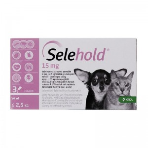 Selehold Spot On Puppy&Kitten 15 mg  ml ( 2.5 kg), 3 x 0.25 ml