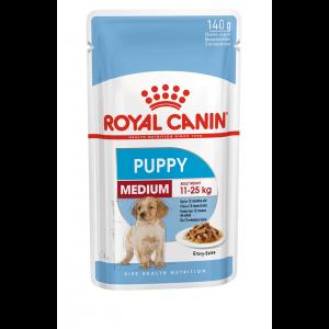 Royal Canin Medium Puppy, 10 plicuri X 140 g