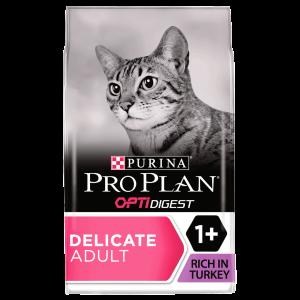 PRO PLAN, Sensitive Digestion Delicate Cat Turkey, 1.5 kg - punga