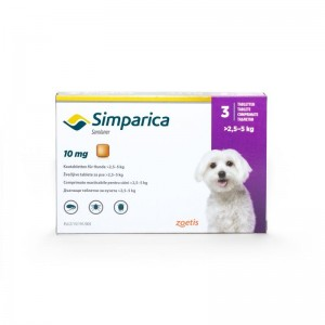 Simparica Caini 10 mg (2.5 - 5 kg), 3 tablete