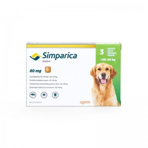 Simparica Caini 80 mg (20 - 40 kg), 3 tablete