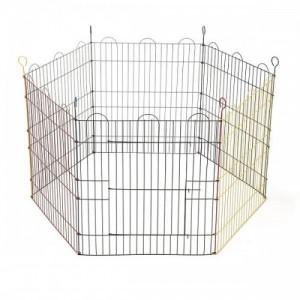 Tarc pentru iepuri, 6 laturi, 105x105x58 cm