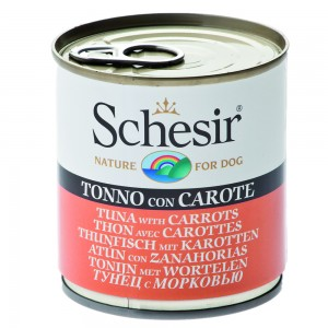 Schesir Dog Ton/ Morcovi, 285 g