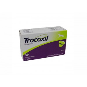 Trocoxil 95 mg, 2 tablete masticabile