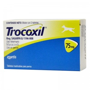 Trocoxil 75 mg, 2 tablete masticabile