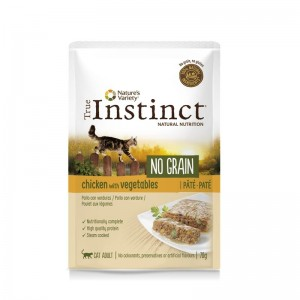 True Instinct Cat No Grain Adult cu Pui, 70 g