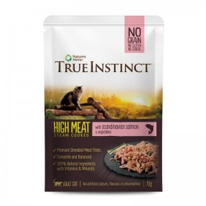 True Instinct Cat No Grain Adult cu Somon, 70 g
