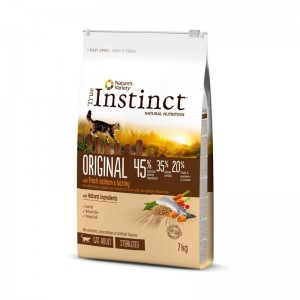 True Instinct Cat Original Sterilised Adult cu Somon, 7 kg