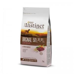 True Instinct Dog Original Medium - Maxi Adult cu miel, 2 kg