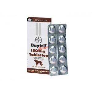 Baytril Flavoured 150 mg antibiotic pe baza de enrofloxacina pentru caini si pisici