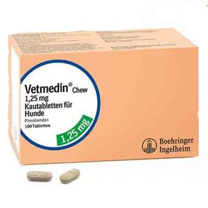 Vetmedin 1.25 mg - Farmacie - Afectiuni Cardio-Circulatorii Caini