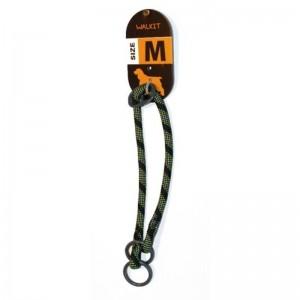 Walkit Special Round Rope Zgarda caine verde negru (M) 0.8 x 35 - 40 cm